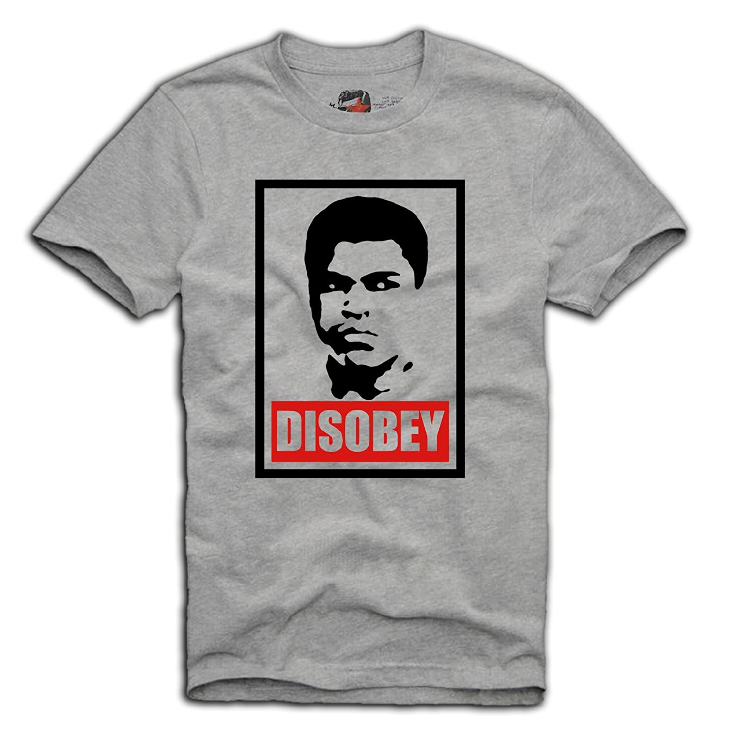 muhammad ali cassius clay disobey t shirt ebay. Black Bedroom Furniture Sets. Home Design Ideas
