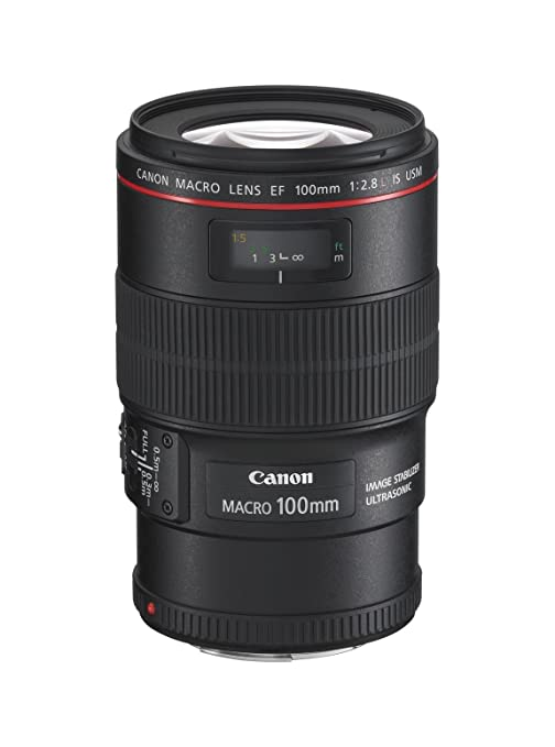 Canon Objectif EF 100 mm f/2,8 Macro L IS USM Stabilisateur d'image 4 vitesse