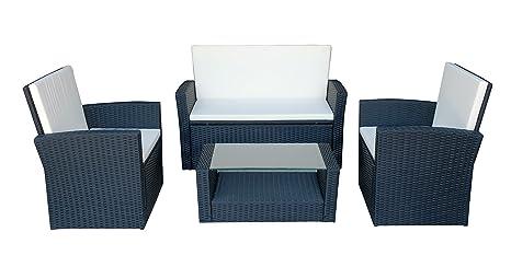 MCombo Poly Rattan Gartenmöbel Sitzgarnitur Sitzgruppe Gartenset Lounge Sofa