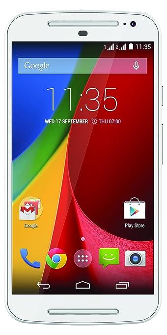 Motorola Moto G 3G (2e génération) Smartphone débloqué (Ecran: 5 pouces) Blanc (import Italie)