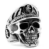 Men's Gothic Stainless Steel Rings Silver Black Devil Skull Soldier Punk Biker Rings Size 13