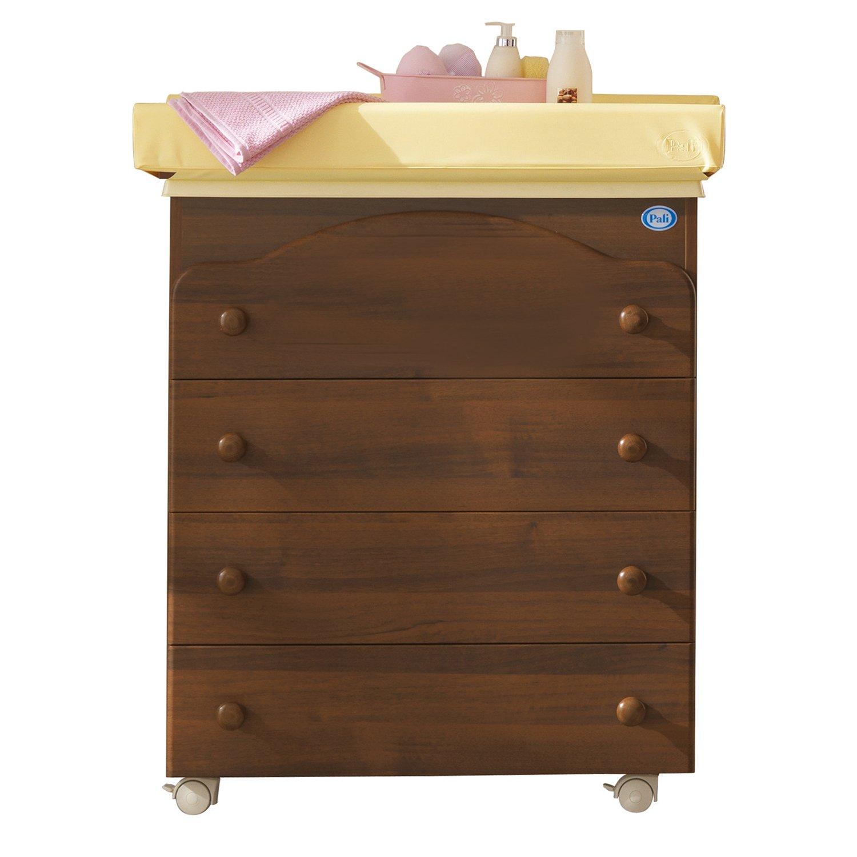 Pali Baby Wickelkommode Basic Four mit Badewanne und Aufsatz Classic Walnut günstig kaufen