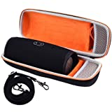 Hard Travel Case for JBL Charge 4 Portable Waterproof Wireless Bluetooth Speaker, Fits USB Cable with Strap (Color: ORANGE)