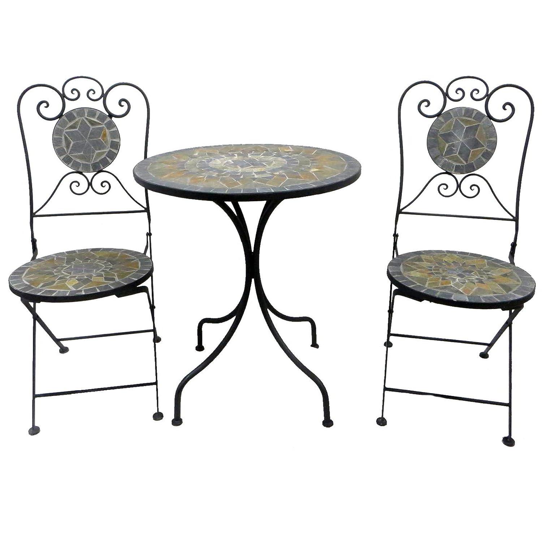 Bistro-Set Balkon-Set Eisen Gartenmöbel Set Mosaik Klappbar online bestellen