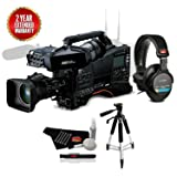 Panasonic AJ-PX380 P2 HD AVC-Ultra Professional Camcorder with AG-CVF15 Color Viewfinder and 17x Fujinon Zoom Lens Bundle with 2 Year Extended Warranty + Sony MDR-7506 Headphones (Color: 2 Year Extended Warranty, Tamaño: Premium w/ 2 Year Extended Warranty)