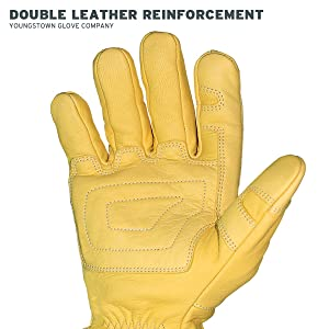 Youngstown Glove 12-3365-60-L FR Ground Glove Lined w/ Kevlar Performance Work Gloves, Large, Tan (Color: Tan, Tamaño: Large)