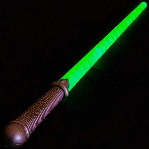 Lumistick LED Light Saber Sword | Lightsaber Glowing Swords Realistic Star Wars Toy Expandable Spinning Ball (Green, 36 Swords) (Color: Green, Tamaño: 36 Swords)
