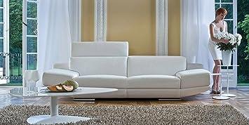 Calia Maddalena-Escort sofá, Crocodile Leather White, Armchair - 135cm