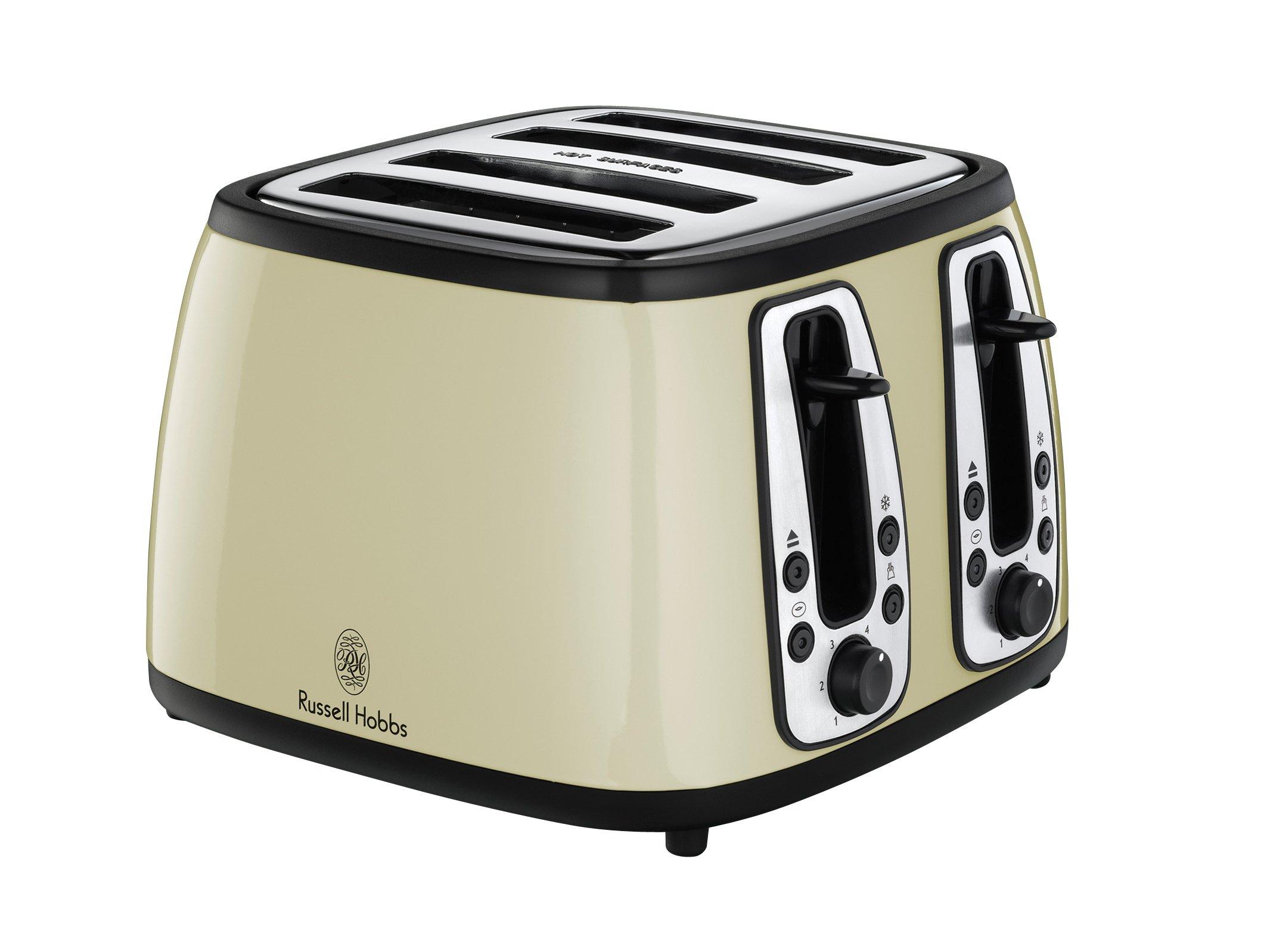 russell hobbs 18369 heritage 4 slice toaster cream cream ebay. Black Bedroom Furniture Sets. Home Design Ideas