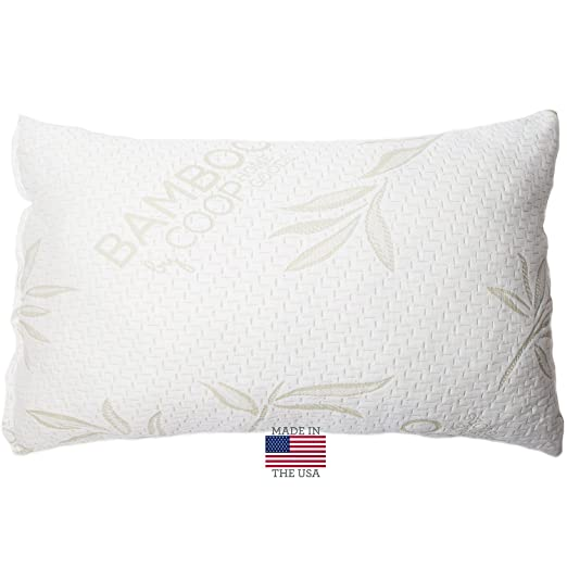 Coop Home Goods Shredded Memory Foam Pillow with Bamboo Cover