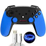 momen Wireless Pro Controller for Switch, Built-in Gyro Sensor and Turbo Functions for Nintendo Switch Controller - Black (with USB Charging Cable) (Color: Black)