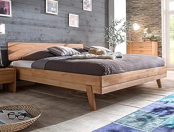 Massivholzbett Liano 160x200 Kernbuche geölt Doppelbett Ehebett Schlafzimmer Holzbett Bett