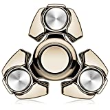 MECULE Fidget Spinner EDC Toy Premium Hand Spinner Durable ABS Original Design Tri Spinner Relieves Stress and Anxiety, Gold