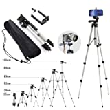 110cm Portable Camera Tripod Stand Holder Adjustable Rotatable Retractable Aluminum Tripods Smartphones Mount for iPhone X 7 7 6s 6 SE Plus Samsung Galaxy S9 S8 Note 8 9 Party Other Moblie Phone (Color: 110cm Aluminum Triod(No Controller))