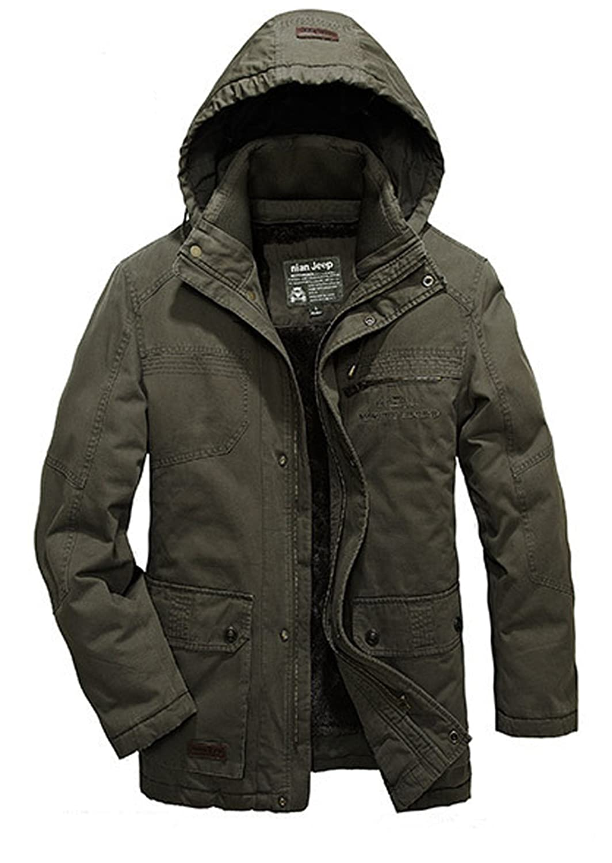 BININBOX® NEU Herren Verdickung Baumwolle Mantel Abnehmbare Innenkleidung Wintermantel Baumwolle Bekleidung in 2 Farben