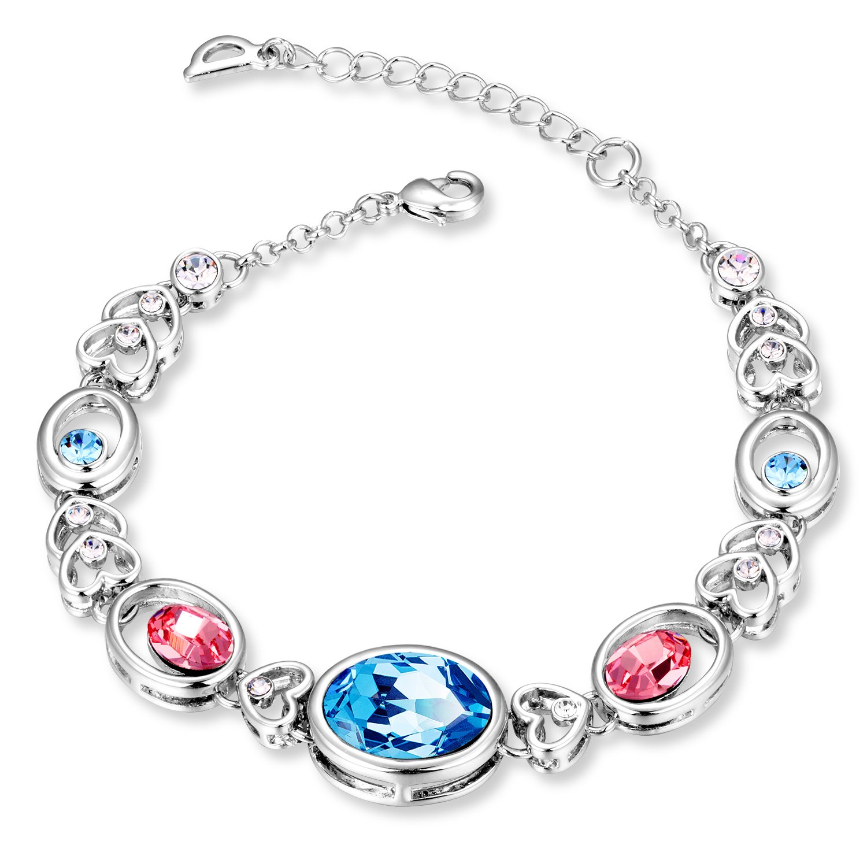 Swarovski Blue Elegant Designer Bracelet for Women by YELLOW CHIMES