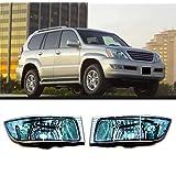 Baodiparts 2Pcs Clear Car Front Bumper Left + Right Fog Lamp Light Cover No Bulb Waterproof