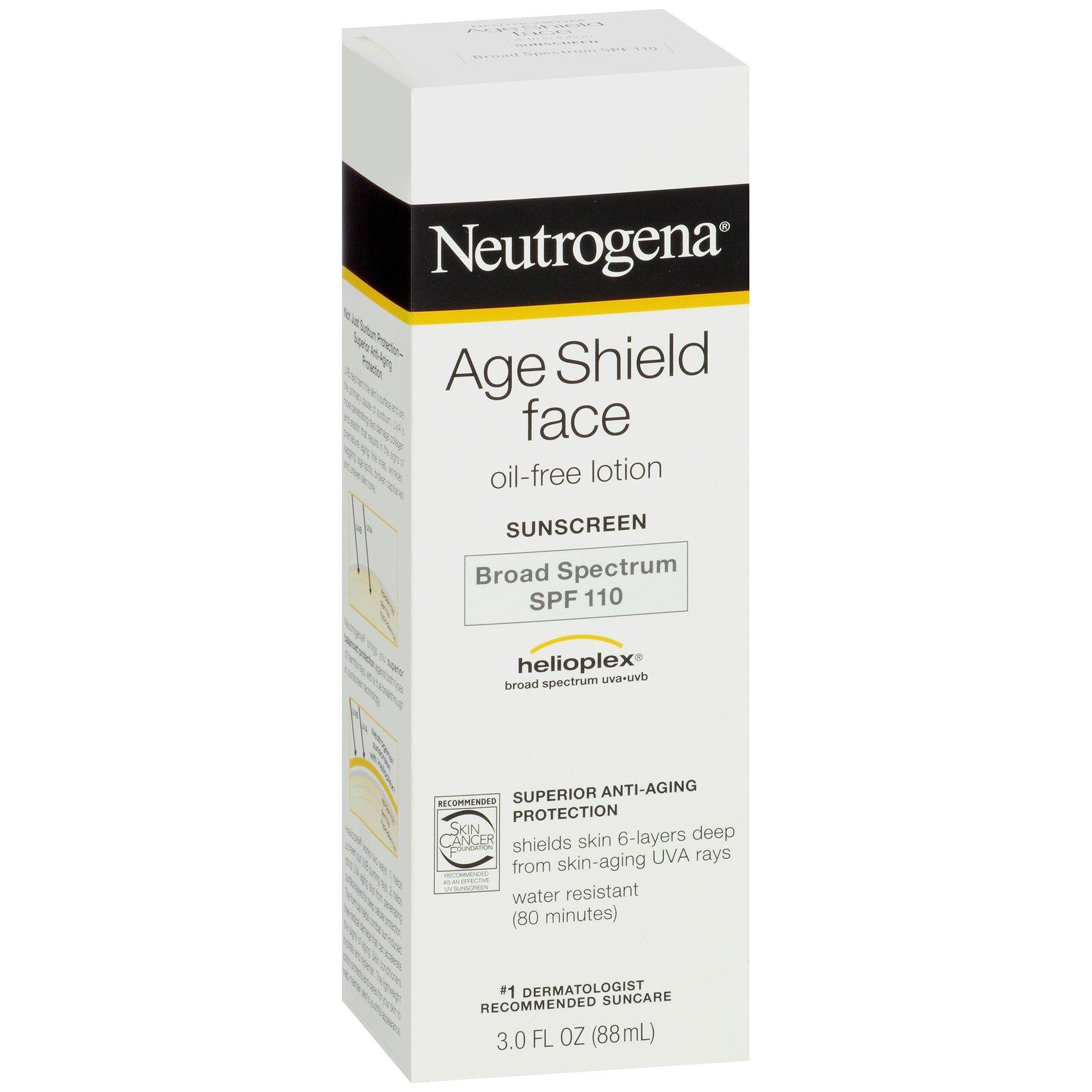 galleon neutrogena age shield face oil free lotion sunscreen broad spectrum spf 110 3 fl oz. Black Bedroom Furniture Sets. Home Design Ideas