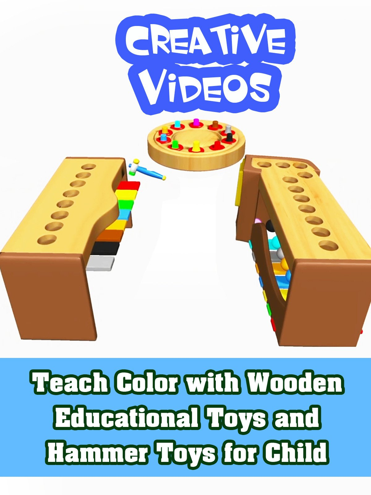 Teach Color with Wooden Educational Toys and Hammer Toys for Child