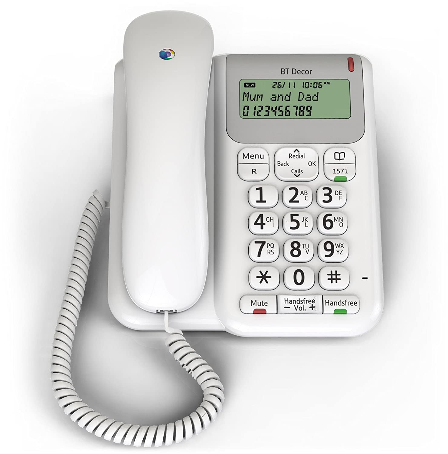 bt 2200 decor telephone corded phone landline hearing aid home phone loud white 5016351304426 ebay. Black Bedroom Furniture Sets. Home Design Ideas