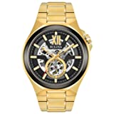 Bulova Men's Automatic Stainless Steel Casual Watch, Color:Gold-Toned (Model: 98A178) (Color: Gold)