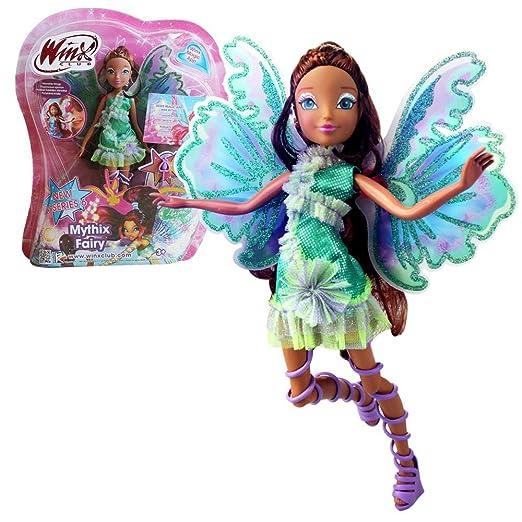 Winx Club - Mythix Fairy - Layla Aisha Poupée 28cm avec ceptre Mythix
