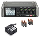 Zoom F4 MultiTrack Field Recorder Bundle with Zoom BCF-8 Battery Case, 8 Batteries, and Austin Bazaar Polishing Cloth (Color: Bundle w/ BCF-8 Battery Case, Tamaño: F4)