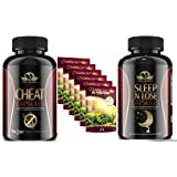 Sleep 'n' lose, Cheat,and 6 weeks Tedivina Natural Weight Loss Detox Tea, 6 Tea Bags: Reduce Bloating, Promote Fat Loss, Control Appetite & Detoxify the Body - Antioxidant-Rich 100% Natural