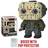 Funko 8-Bit Pop! Horror: Friday the 13th - Jason Voorhees Vinyl Figure (Bundled with Pop BOX PROTECTOR CASE) (Tamaño: 3.75 inches)