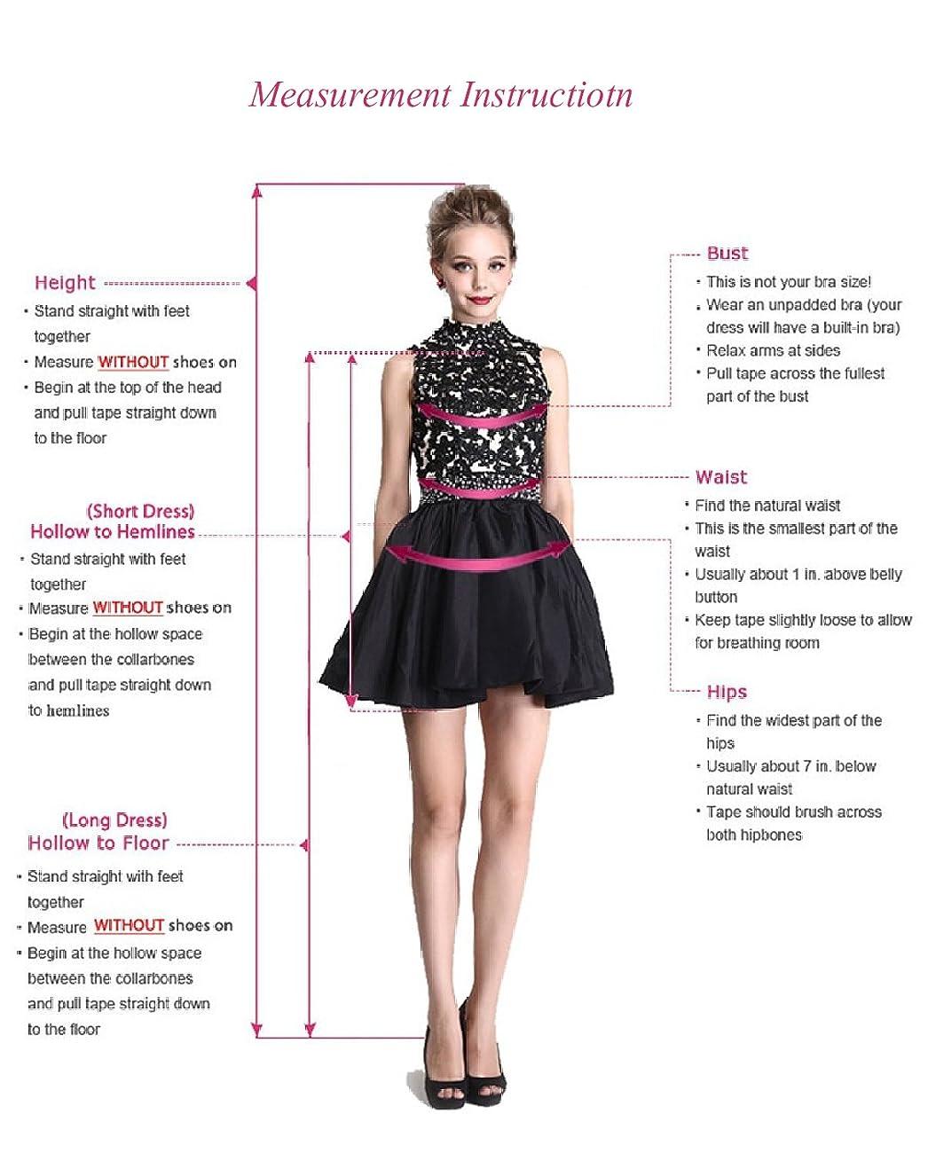 Fashionbride Women's Lace Tea Length A Line Vintage Wedding Dress Bridal Gown F364 4