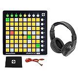 Novation LAUNCHPAD MINI MK2 MKII USB MIDI DJ Controller 64-Pad+Samson Headphones