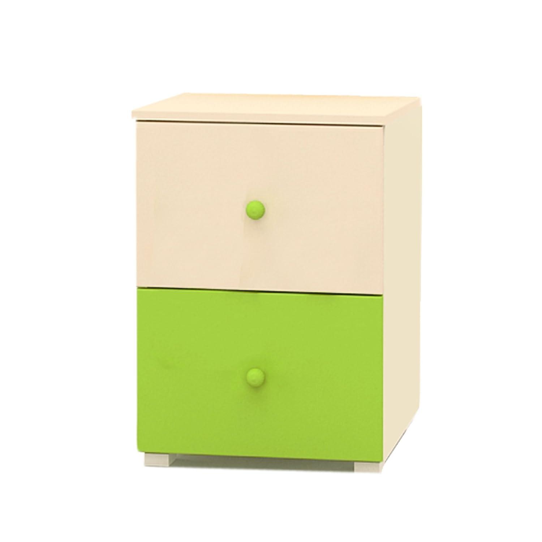 Kommode für Kinder klein 2 Schubladen Kinderkommode AFRICA 40x42x59cm grün beige K2-40