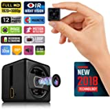 Lilexo Mini Hidden Spy Camera - HD Secret Camera - 1080P Small Magnetic Security Camera - Nanny Cam With Night Vision and Motion Detection - Indoor/Outdoor Surveillance Camera for Home, Car, Office