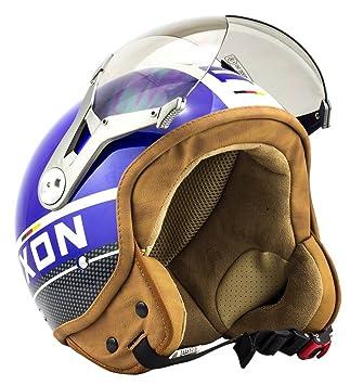 SOXON SP-325 Plus blue - bleu casque JET moto Cruiser Pilot - Taille: M