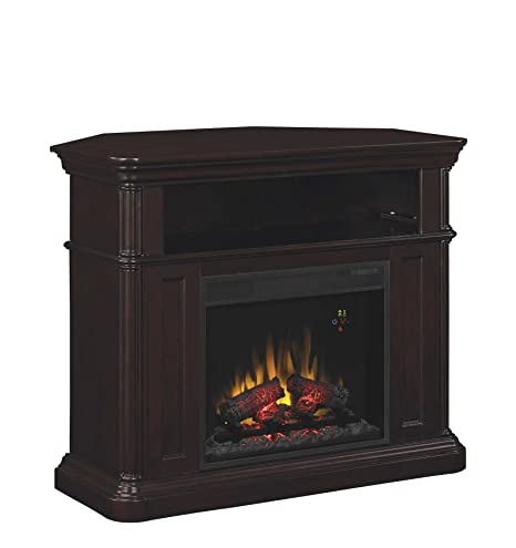 "ClassicFlame 23DE8202-E451 Oakfield Wall or Corner TV Stand for TVs up to 47"", Espresso (Electric Fireplace Insert sold separately)"