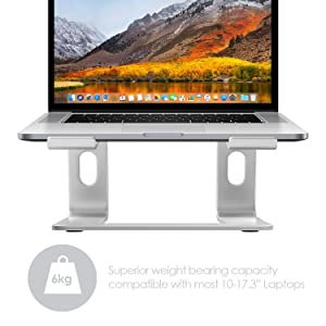 Desire2 Laptop Stand, View Ergonomic Aluminum Laptop Computer Stand, Detachable Laptop Riser Notebook Holder Stand Compatible with MacBook Air Pro, Dell XPS, HP, Lenovo More 10-15.6 Laptops (Color: Laptop Stand)