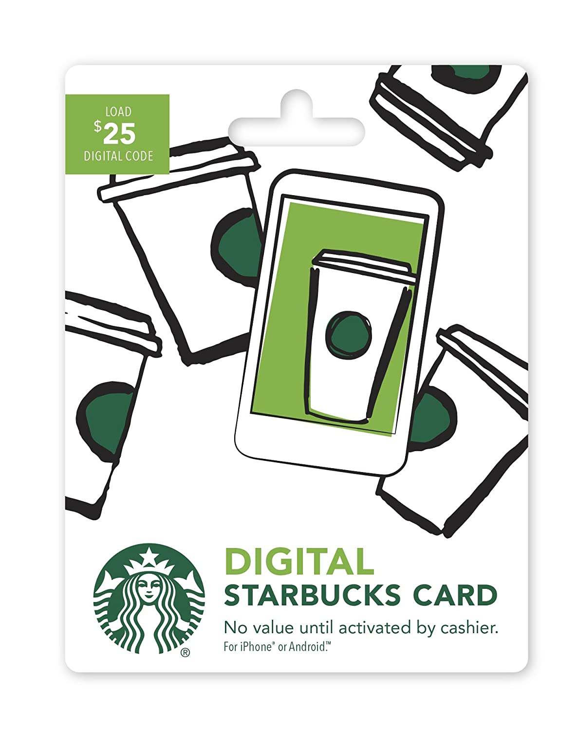 Starbucks Digital Gift Card (No Plastic Card - Enclosed Code Only)