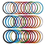 PH PandaHall 36 Rolls 12 Colors 3 Sizes 5 M/Roll 0.8/1/1.5mm Aluminum Craft Wire Flexible Metal Artistic Floral Jewely Beading Wire DIY Craft Jewelry Making, 20/18/14 Guage (Color: 12 Colors-36 Rolls, Tamaño: 20/18/14 Guage)