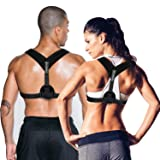 Posture Corrector for Women & Men, Relieves Upper Back & Shoulders Pain, Corrects Slouching, Hunching & Bad Posture, Clavicle Support Adjustable Brace (Color: Style 1)