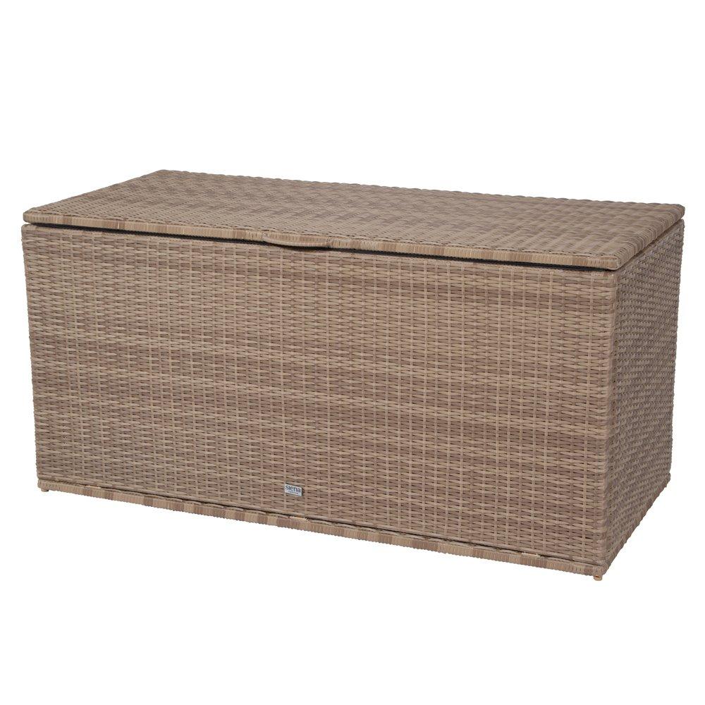 Siena Garden 936806 Universalbox Cadiz, Gardino-Geflecht sand, mit Hydrauliksystem zur Öffnung des Deckels, mit verschließbarer Innentasche,131x61x65cm jetzt kaufen