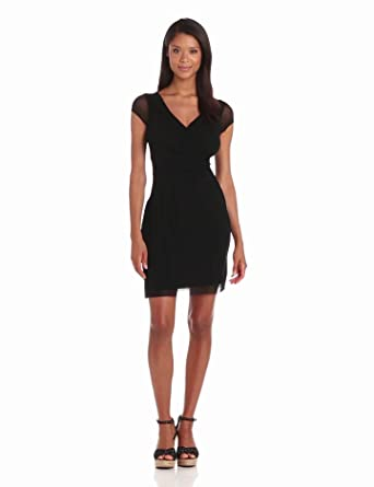 Weston Wear Women's Madonna Mesh Solid Dress, Black, X-Small