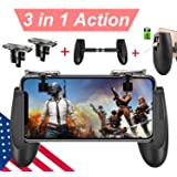 Mobile Game Controller [Upgrade Version] Mobile Gaming Trigger for PUBG/Fortnite/Rules of Survival Gaming Grip and Gaming Joysticks for 4.5-6.5inch Android iOS Phone (Mobile Game Controller.) (Color: Mobile Game Controller., Tamaño: Mobile Game Controller')