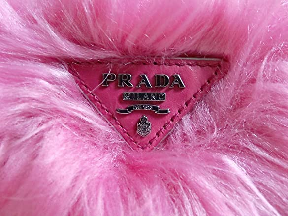 Prada Handbag 1N1530 Eco Pelliccia Faux Fur Wristlet Clutch Bag ...