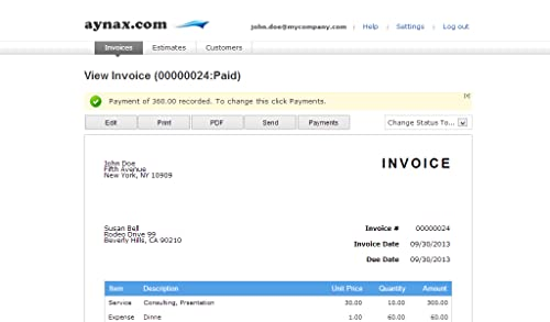 Invoice Template  Month Online Subscription By Aynax Mac