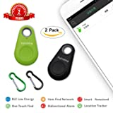 flyfishing Smart Finder Bluetooth Locator Wireless Anti Lost Alarm Sensor Spy GPS Tracker For Key Wallet Car Kids Pets Dog Cat Child Bag Phone Located Selfie Shutter pack of 2 (3pack) (2pcs)