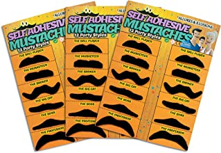 36 Pack Fake Mustache Mustaches Novelty amp Toy 36pk -Orange By Allures amp Illusions