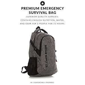 98dbbae438ab Sustain Supply Co. Essential 2-Person Emergency Survival Bag/Kit ...