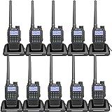 Retevis RT87 Waterproof Walkie Talkie Long Range VHF UHF IP67 Hands Free Scrambler FM Emergency 2 Way Radios with Super Clear Audio(10 Pack) (Color: Black)