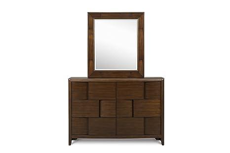 Magnussen Home Twilight Y1876-27 Six Drawer Dresser with Portrait Mirror
