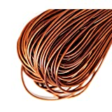 10g Antique Copper Round Smooth Copper Hand Embroidery French Fine Metallic Wire Goldwork Bullion Luneville Tambour Indian Gimp Dabka Purl (Color: Antique Copper, Tamaño: 1mm)